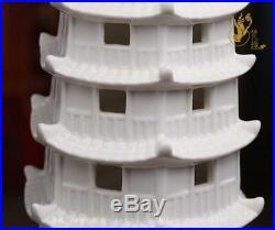 17 Chinese Dehua White Porcelain Carving Temple Buddha Pagoda Stupa Tope Statue
