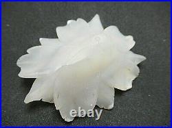 78gr RARE Druzy Agate Flower Carving