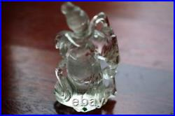 A005 Antique Estate Chinese rock crystal figure of meiren. 19th/20th Century