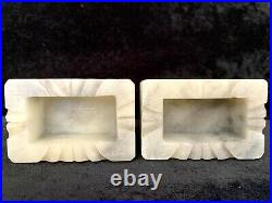 A Pair of Chinese Old White Jade Carved Feng Shui Foo Fu Dog Lion Lucky Statues