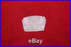 Antique Chinese Carved White He Tian Jade Circa Republic of China