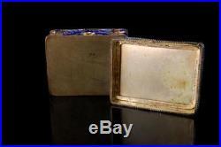Antique Chinese Symbol Carved White Hardstone Jade Enamel Silver Box D102-06