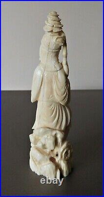 Antique Chinese carved Marine (bone) male figurine c 1920