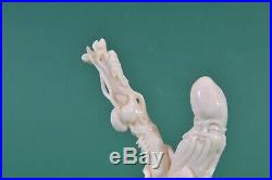 Antique Chinese white coral carving