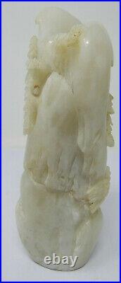 Antique Sculpture China Bowlder Carved White Jade or Stone Jadeite Chinese
