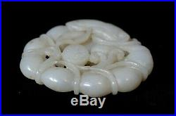 Antique White JADE Nephrite Fish carving Asian from Collector Estate