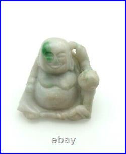 Asian-Chinese Jadeite Carved Miniature Pudi (17144)