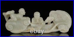 Asian Chinese White Jade Carving of a Statue / Figure