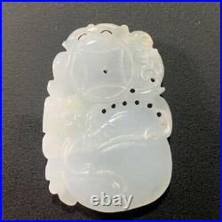Beautiful Antique Chinese Carved White Jade Figurine! Unique! See Description