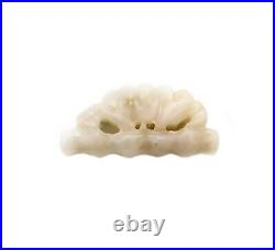 CHINA QING DYNASTY 18th CENTURY CARVED SILKWORM IN NEPHRITE WHITE BEAUTIFULL