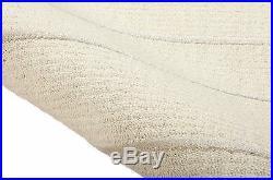 CHINESE Cream/Ivory hand carved, velvet pile rug 6`6 X 9`9, (2.97 x 1.98M)