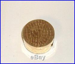 Carved Chinese Medallion White Jade Gold Gilt Trinket Jar Box