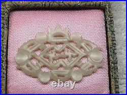 Chinese Carved White Jade Plaque