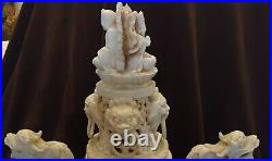 Chinese Or Japanese Carved Resin Statue-Man WithBeard-Face On Bottom-Signed Statue