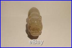 Chinese Qing Period White Nephrite Jade Tiger Figurine