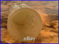 Exceptional Antique Chinese White Jade Carved Thimble