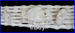 Fine White Jade Carving with Monkeys and Peach Late Qing Dynasty