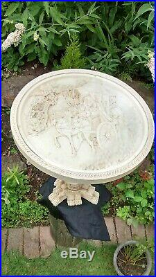 Japanese Ornate Glass Topped Round Table