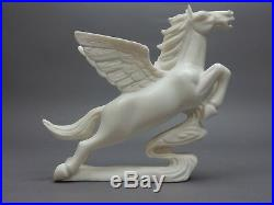 Large Chinese Intricately Carved White Stone Pegasus, Tang horse Statue 9