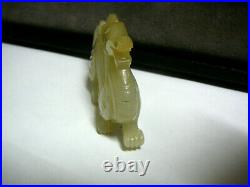 Magnificent Chinese celadon white jade carving of dragon Yuan dynasty 14th C