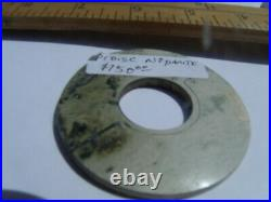 OLD NEPHRITE JADE PI DISC CARVING of trigrams-SUITABLE FOR PENDANT