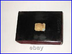 Old Chinese Carved Cinnabar Lacquer Carved Floral Serpentine White Jade Box
