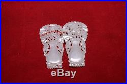 Pair of Antique Chinese Carved White He Tian Jade Vase Circa Republic of China