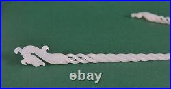 Pair of Chinese carved white jade hairpin