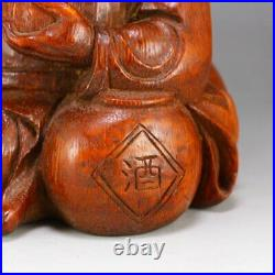 Qing Dy Bamboo Root Carved Myth Figure Zhong Kui Statue