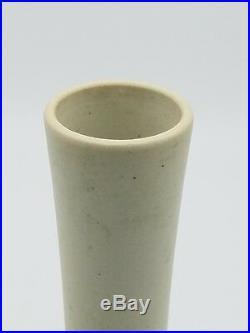 Qing Dynasty carved long neck porcelain vase