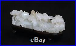 Very Fine Chinese White Jade Carving Late Qing Dynasty