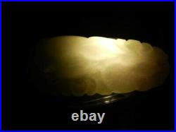Very nice White or Celedon carved pears with foliage JADE pendant 1 5/8th in