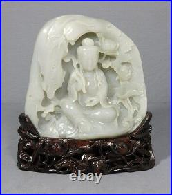 Well Carved Chinese White Jade Figure
