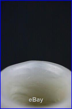 (Yuan Dynasty 1271/1368) pale celadon white Archers Jade thumb ring